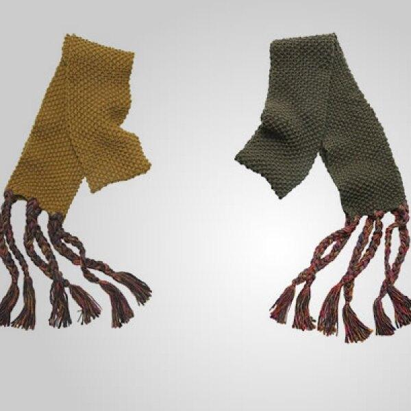 Bufandas de algodón, lista para contrarrestar el frío.