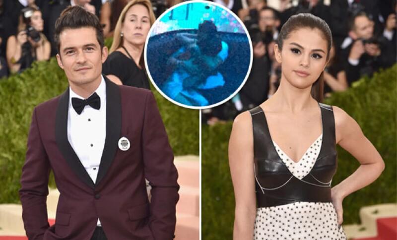 Orlando y Selena fueron captados en un momento íntimo en un club de Las Vegas.