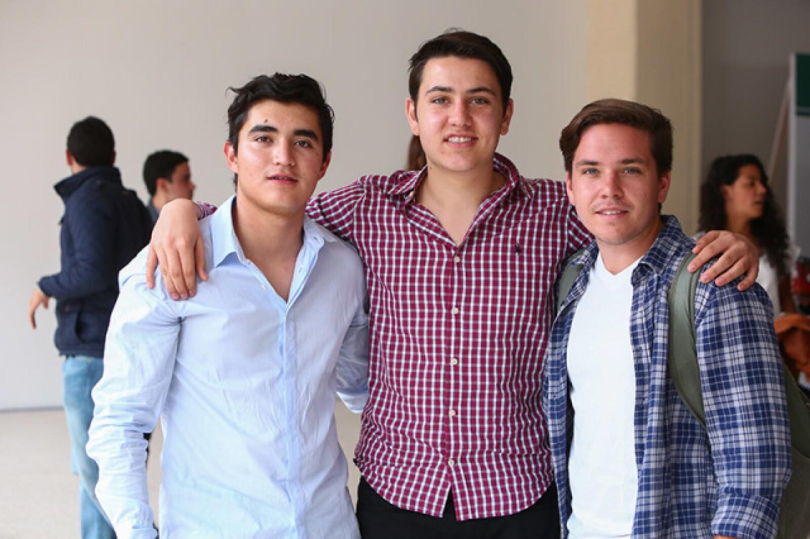 Julio Montoya,Juan Rueda e Ian Blanco