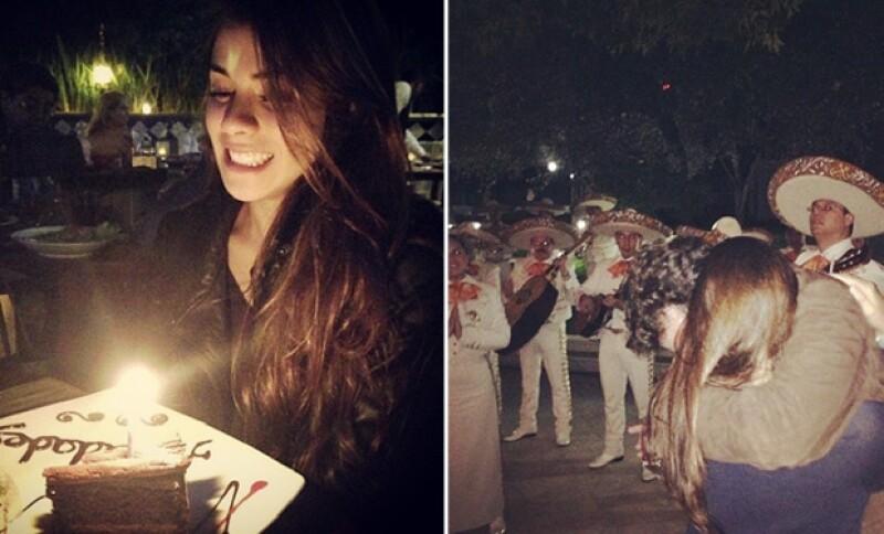 Así festejó Paulina su cumple el año pasado con su novio.