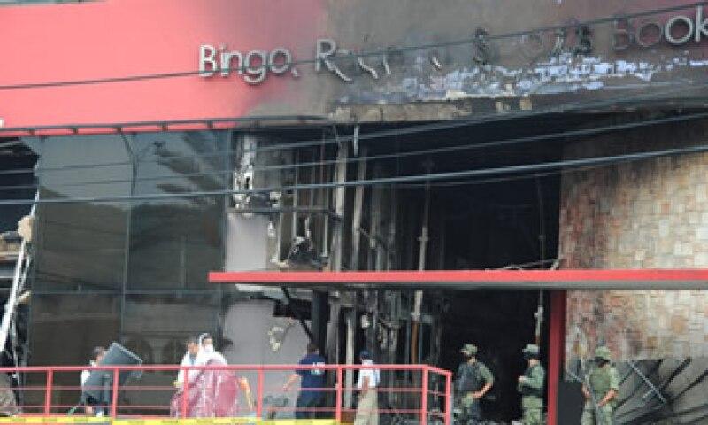 El casino Royale fue atacado por un grupo armado el jueves pasado, que provocó que el lugar se incendiara. (Foto: Notimex)