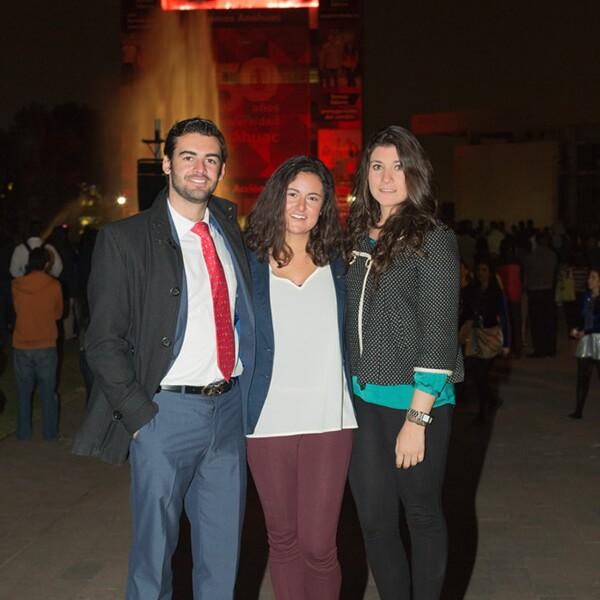 Eduardo Lanzagorta, Almudena García y Miriam Bodegas