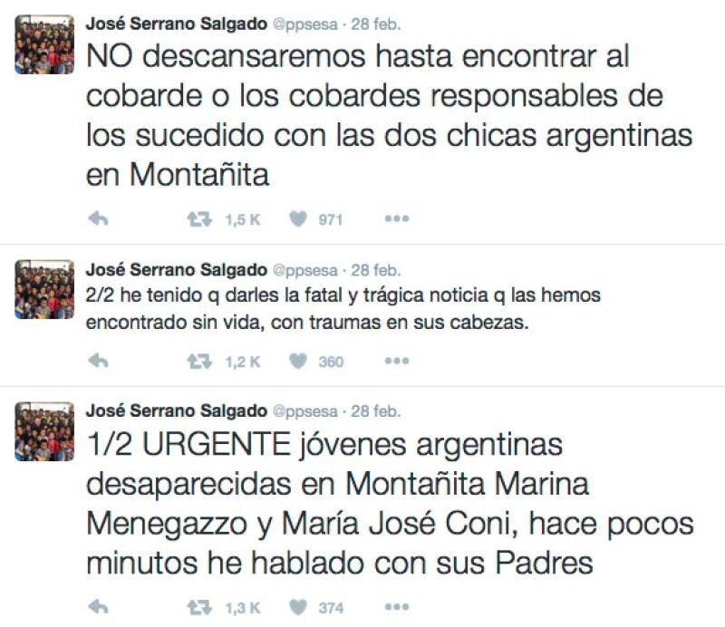 El gobierno de Ecuador infromó todo lo que estba pasando con el caso de las turistas argentinas.