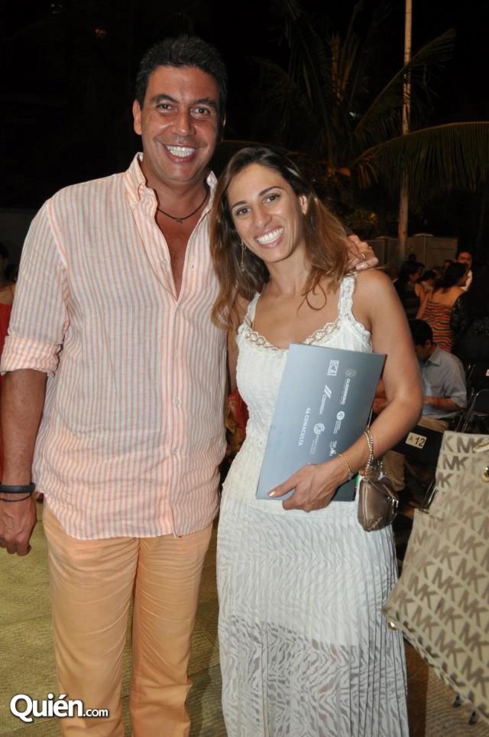 Arturo Elías Ayub y Johanna Slim.
