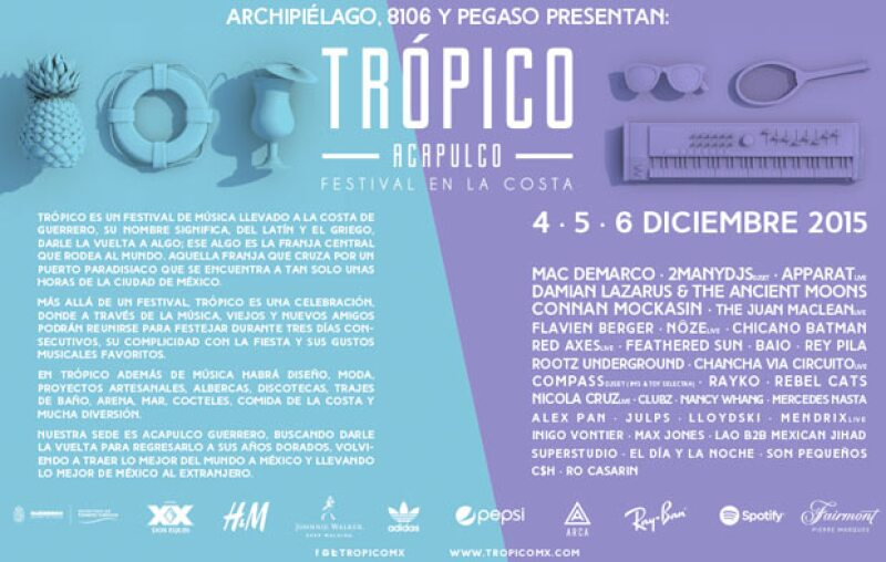 Por tercer año consecutivo se realizará el festival en la costa de Acapulco, entérate de las fechas y sobre todo del talento artístico.