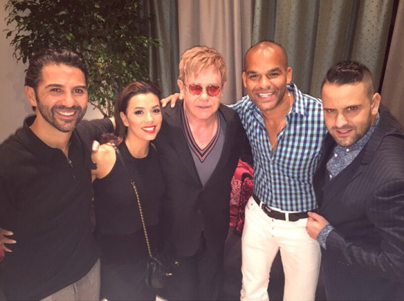 Hace algunos días la actriz se reunió con Elton John durante su paso por Las Vegas.