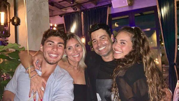 Chayanne, Marilisa Maronesse y sus hijos, Lorenzo e Isadora Figueroa.