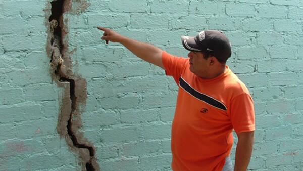 muro dañado
