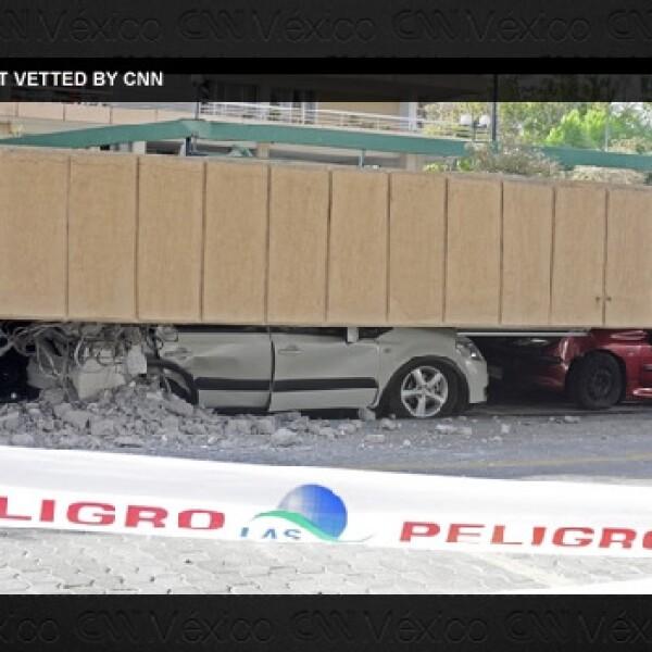 Varios puentes se colapsaron en Santiago (foto no editada por CNN)