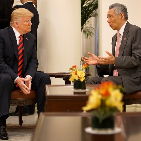 Trump se reúne con el primer ministro de Malasia