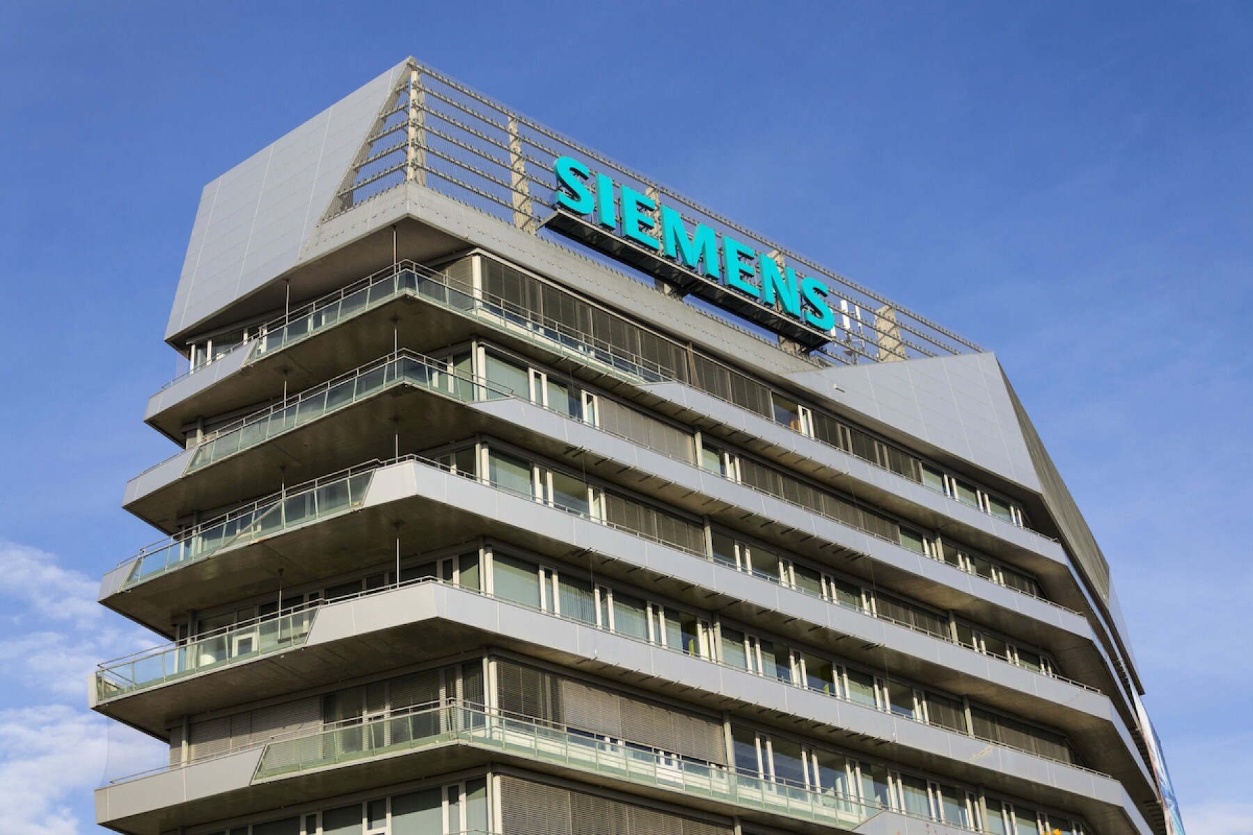 Siemens company logo on Czech headquarters