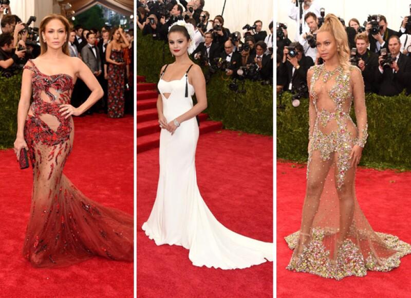 Las celebridades se dan cita en el Museo de Arte Metropolitano en Nueva York para vestir los diseños más extravagantes.