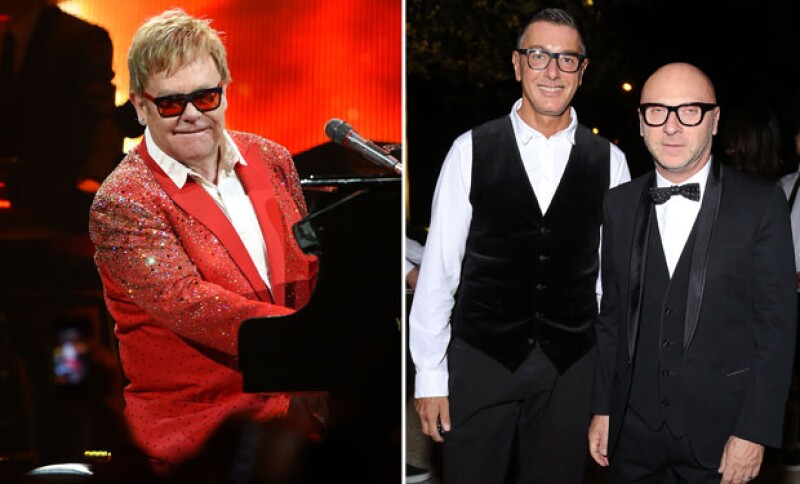 Elton John se mostró en contra de las declaraciones de los diseñadores Stefano Gabbana y Domenico Dolce.