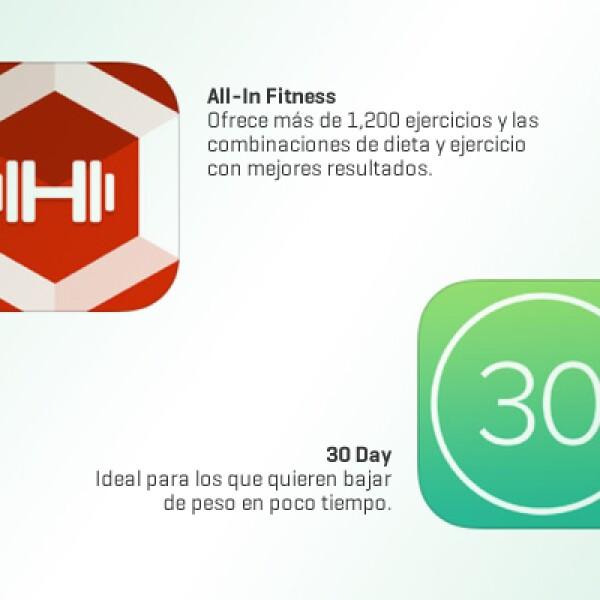 Estas apps son ideales para ejercitar y bajar de peso, ya que ofrecen rutinas de ejercicios y planes de dieta para una alimentación saludable.
