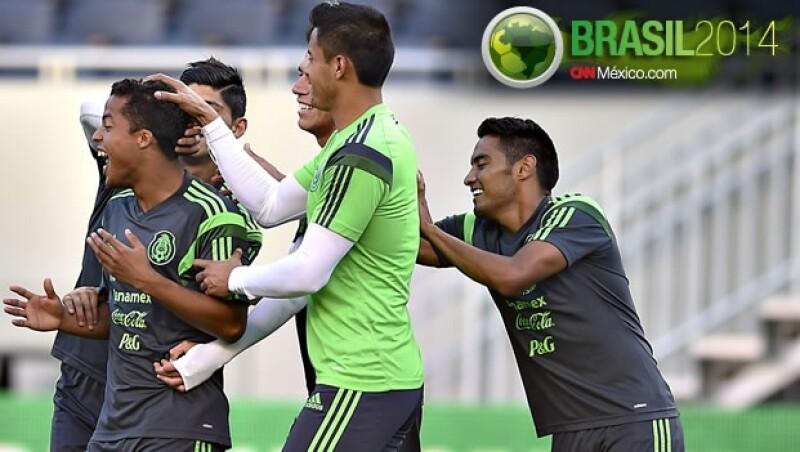 Los seleccionados mexicanos tuvieron una práctica en el Soldier Field de Chicago previo a su encuentro ante Bosnia-Herzegovina