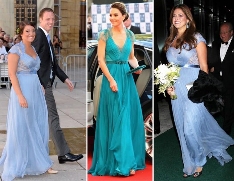 La princesa Alexandra en la boda real de Luxemburgo. Kate Middleton en un evento en mayo de 2012 y Magdalena la noche de ayer.