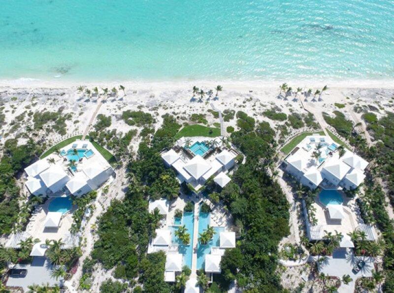 Kylie pasó su cumple en Las Islas Turcas y Caicos y se quedó en la propiedad conocida como Pearls of LongBay.