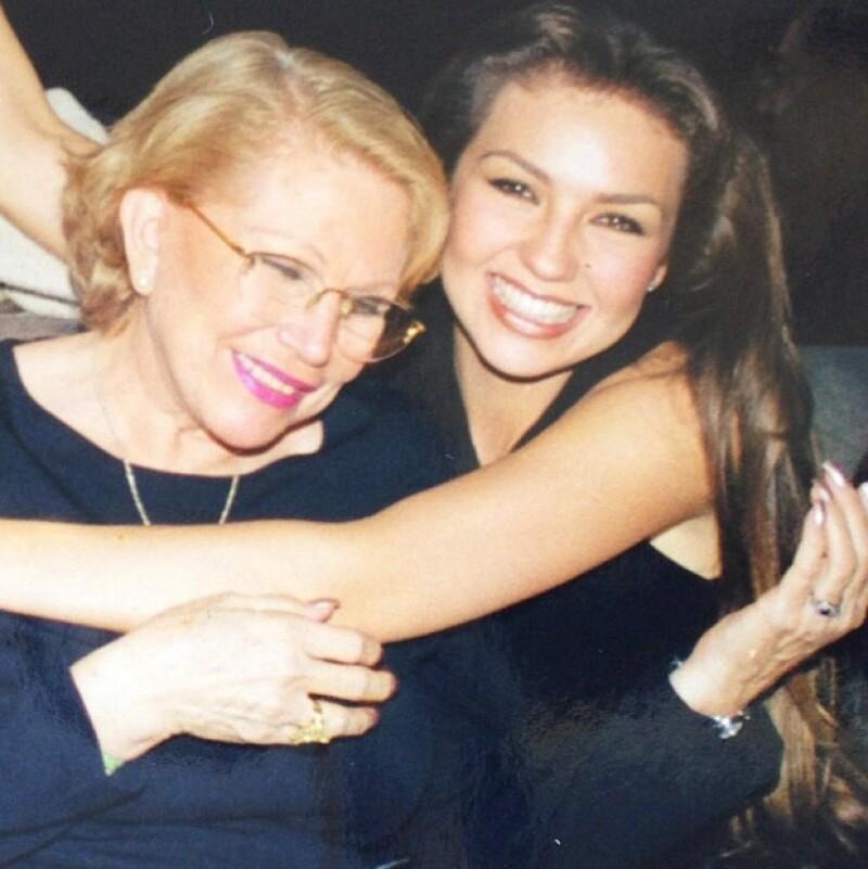 Thalía con su mamá, Yolanda Miranda, quien falleció en 2011.