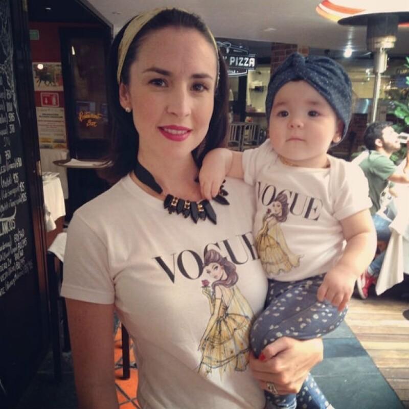 Bebé fashionista. Regina es afortunada de tener una familia de expertos en moda.
