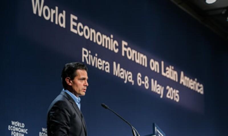 El presidente Enrique Peña Nieto participó en el Foro. (Foto: Tomada de flickr.com/photos/worldeconomicforum)