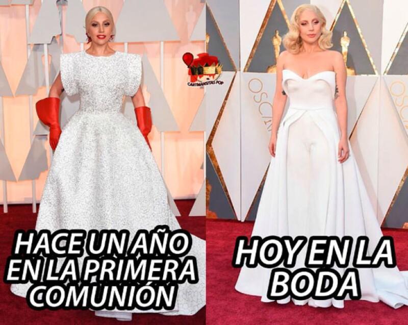 El look de Lady Gaga también fue blanco de burlas.