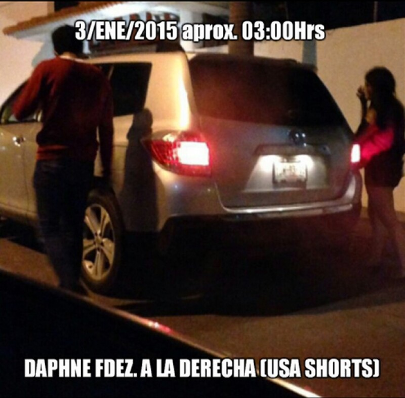 El padre de uno de los implicados en el caso de la supuesta violación a Daphne Fernández ha presentado una serie de imágenes para probar la inocencia de su hijo.