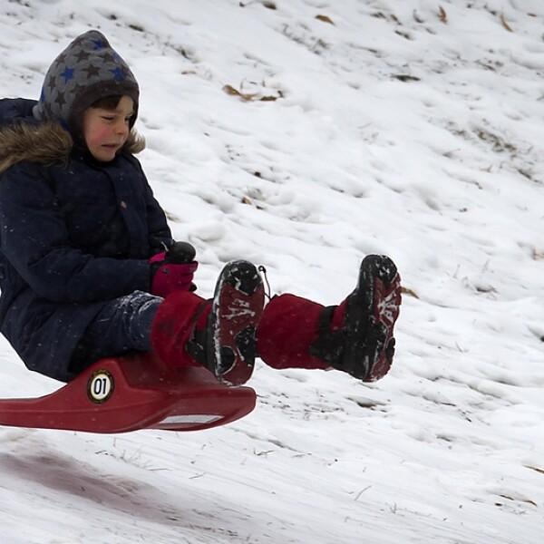 niña nieve central park