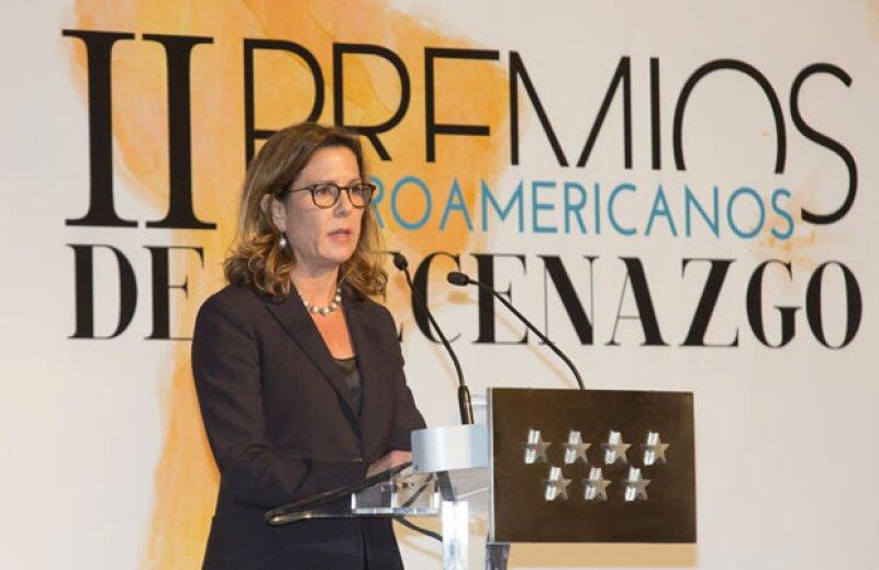 Bárbara Garza Lagüera en su discurso de agradecimiento.