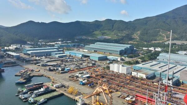 Vista del astillero de DSME en Corea del Sur (Foto: Sidleeks)