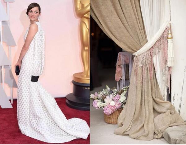 Marion Cotillard lució un Dior Couture, pero algunos lo compararon con una cortina.