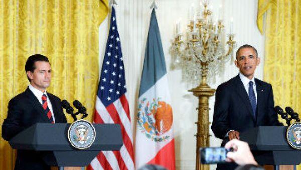 Enrique Pe�a y Obama
