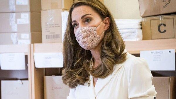 Kate Middleton cubrebocas