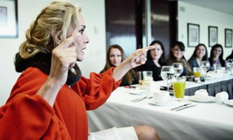 Fuentes instó a las invitadas a competir consigo mismas para encontrar la motivación que las haga progresar. (Foto: Alex H.O.)