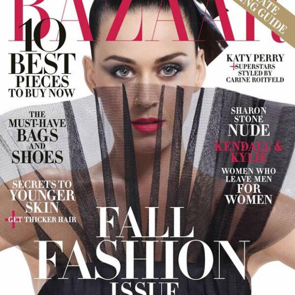 Harpers Bazaar: Katy Perry aparece con un vestido de Saint Laurent by Hedi Slimane.