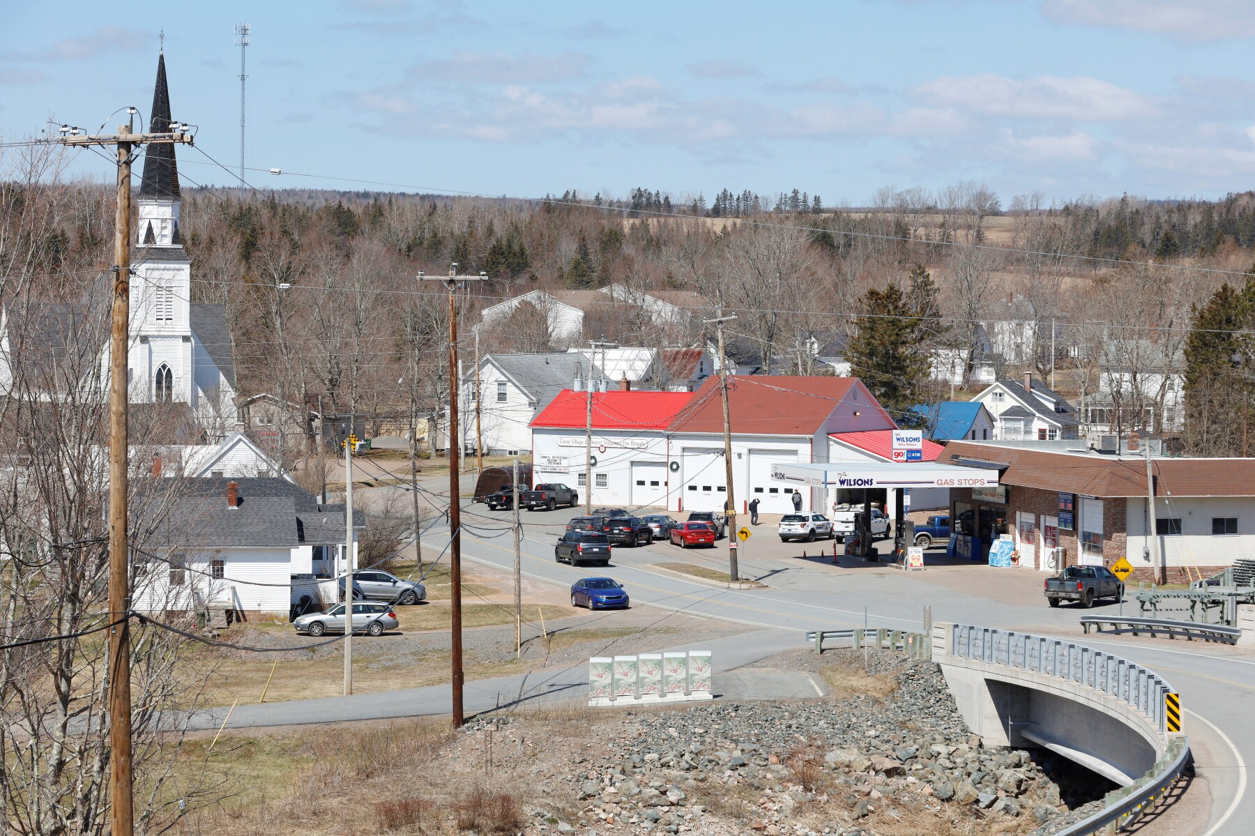 RCMP command post at Great Village Fire Department after finding Wortman in Nova Scotia