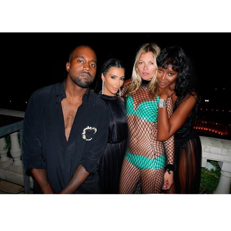 En la fiesta también estuvieron presentes Kim Kardashian y Kanye West.