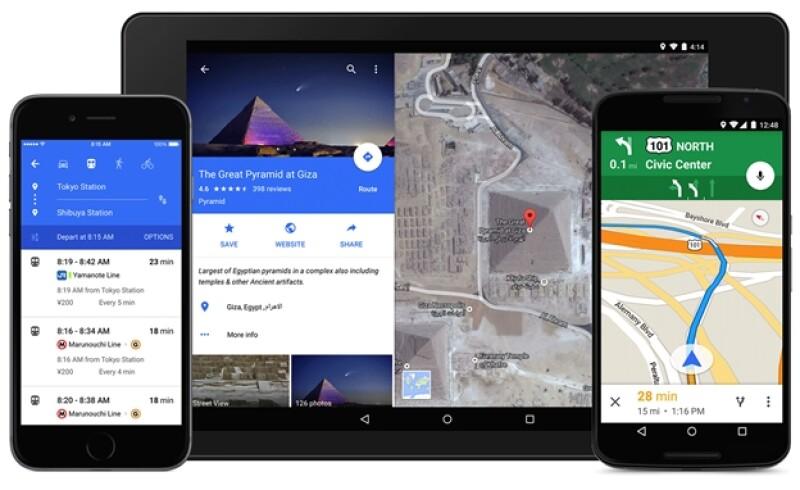 Google Maps nuevo diseño
