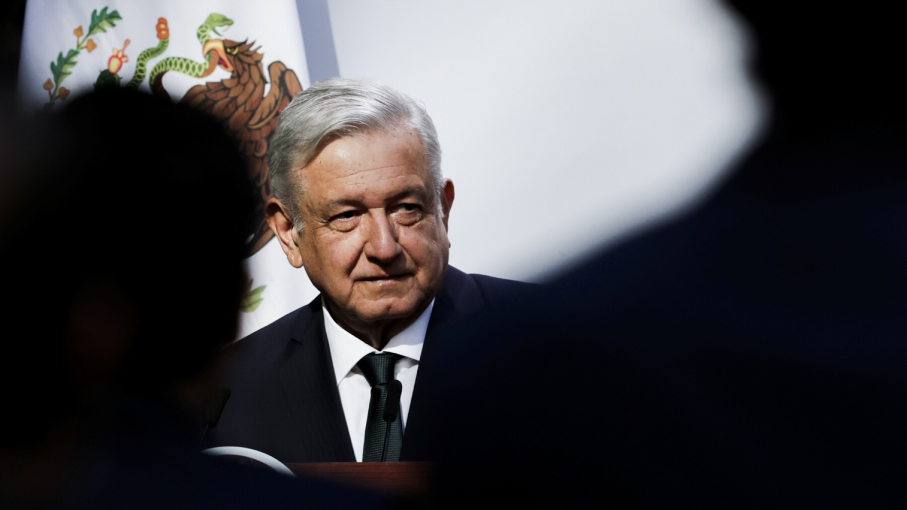 Mexico's President Andres Manuel Lopez Obrador delivers his second state of the union address at National Palace in Mexico City