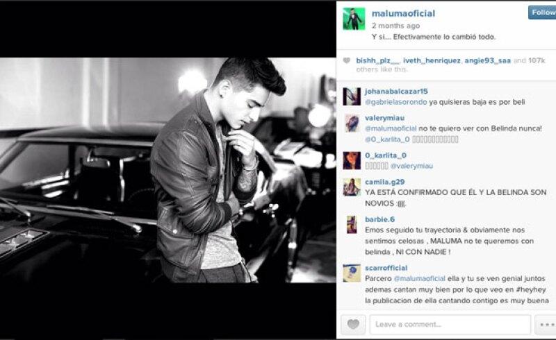 El reggaetonero no borró el mensaje que acompaña a la foto.