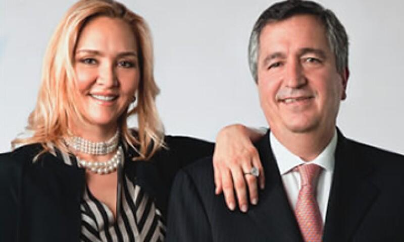 Angélica Fuentes  y Jorge Vergara son dueños del equipo con más campeonatos en México, el Guadalajara. (Foto: Duilio Rodríguez)