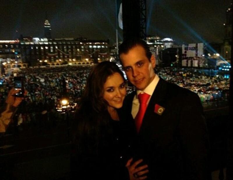 Sherlyn y su novio compartieron esta imagen desde donde celebraron esta fecha.