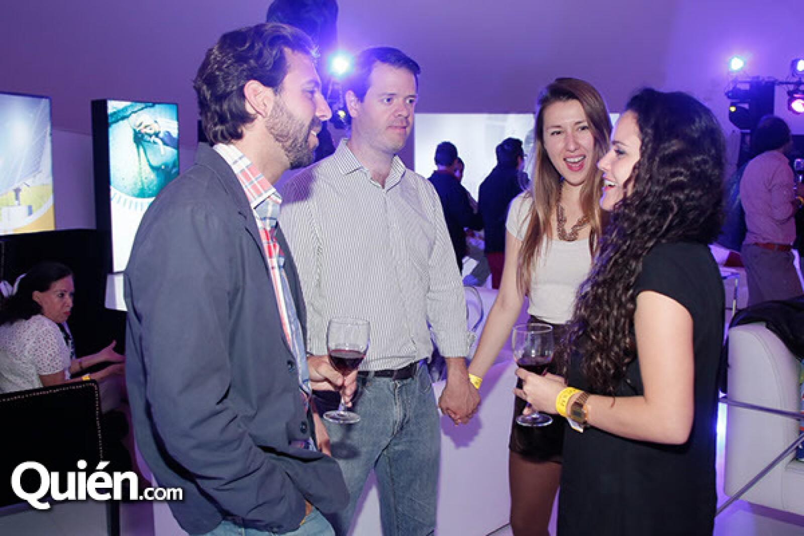 Jaime González, Luis Carlos González,Paula Romero y Adriana Vallejo