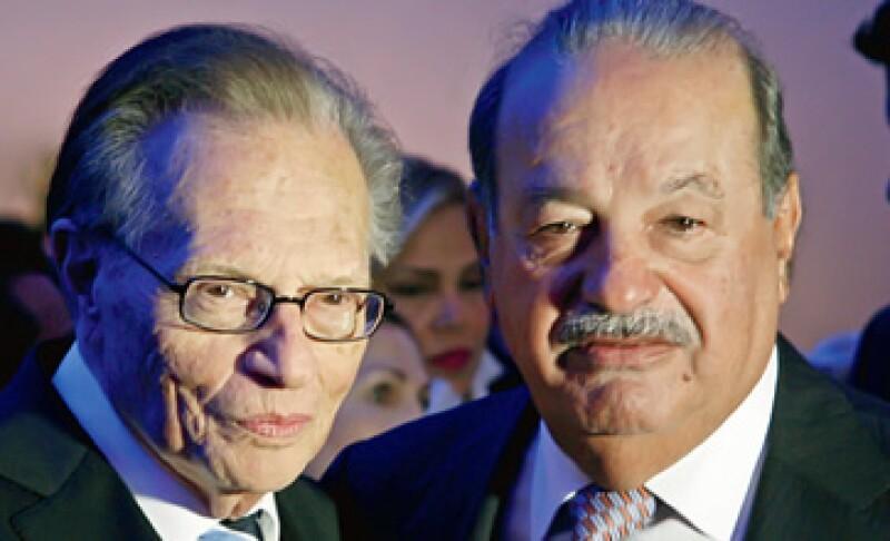 Carlos Slim convenció a Larry King de que forme parte de Ora.TV. (Foto: Marco Vallejo / Quién)