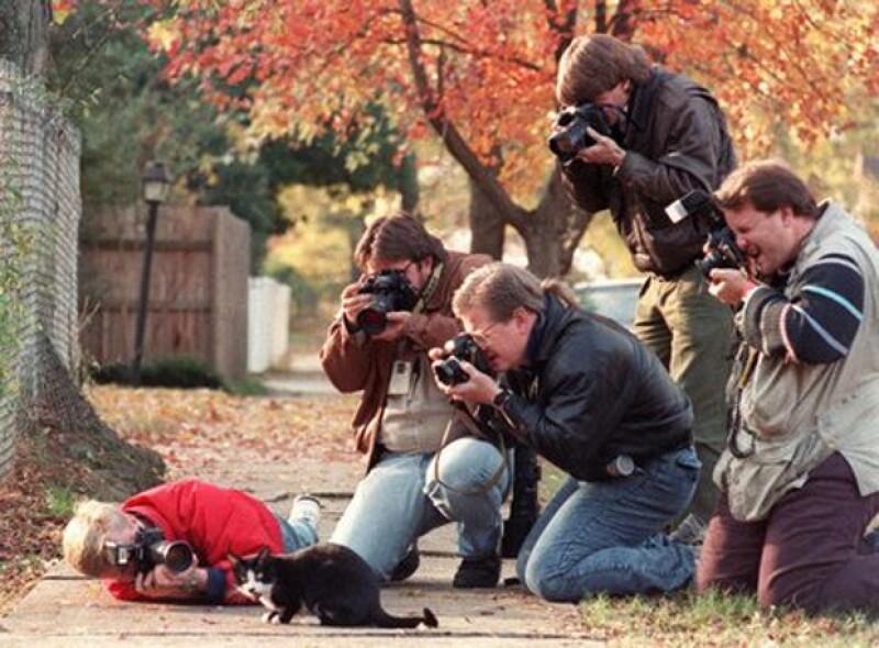 La prensa quería la mejor foto de Socks.