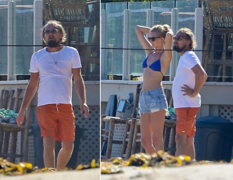 Leonardo y Toni disfrutaron de un partido de voleibol en la playa a en Malibú a principios de julio.