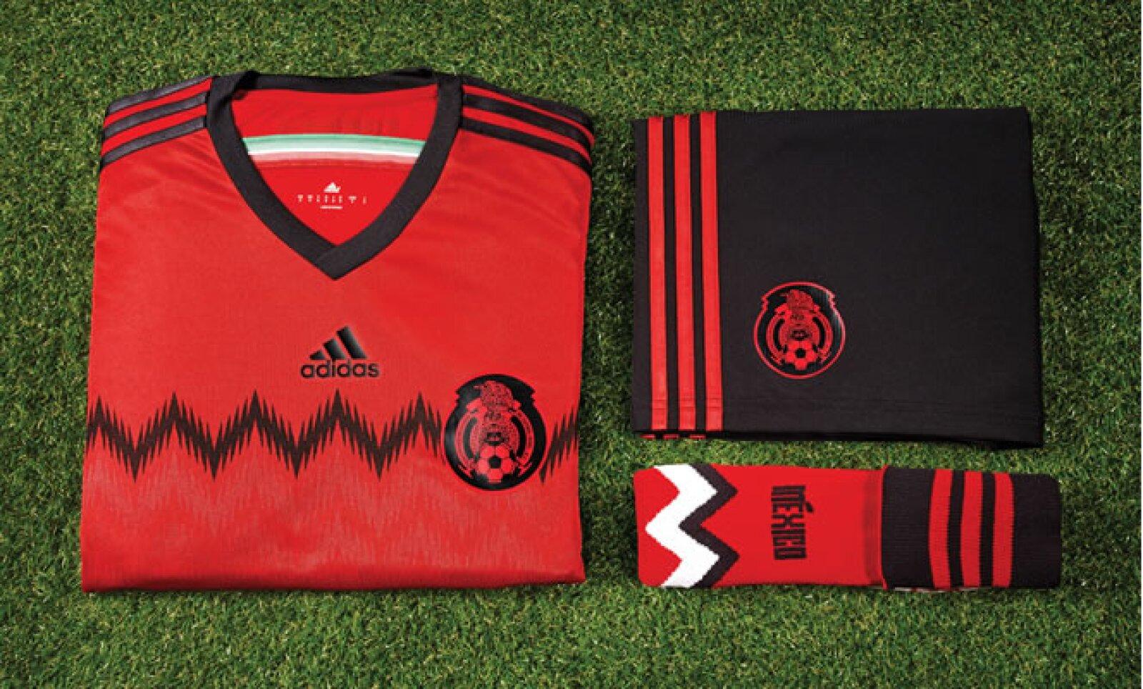 """Con una combinación inusual, Adidas presentó este viernes el uniforme alternativo del """"Tricolor""""."""