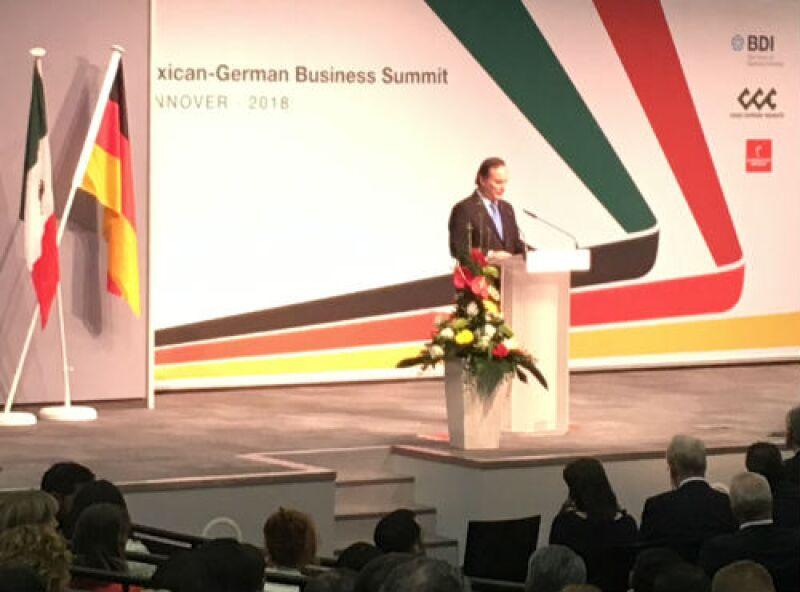Juan Pablo Casta��n, l�der del CCE, en la feria Hannover Messe 2018