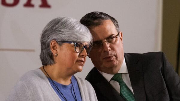 Graciela Márquez y Marcelo Ebrard