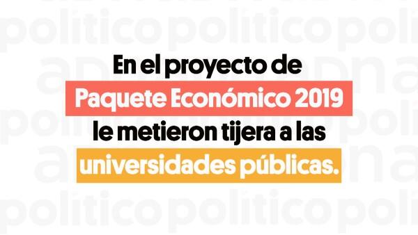 Recorte Presupuesto Económico Universidades