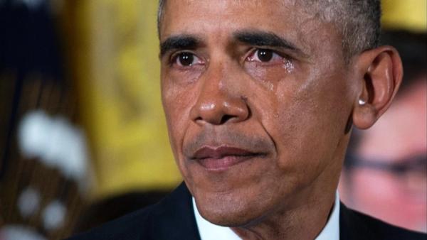 Barack Obama llora en discurso de armas